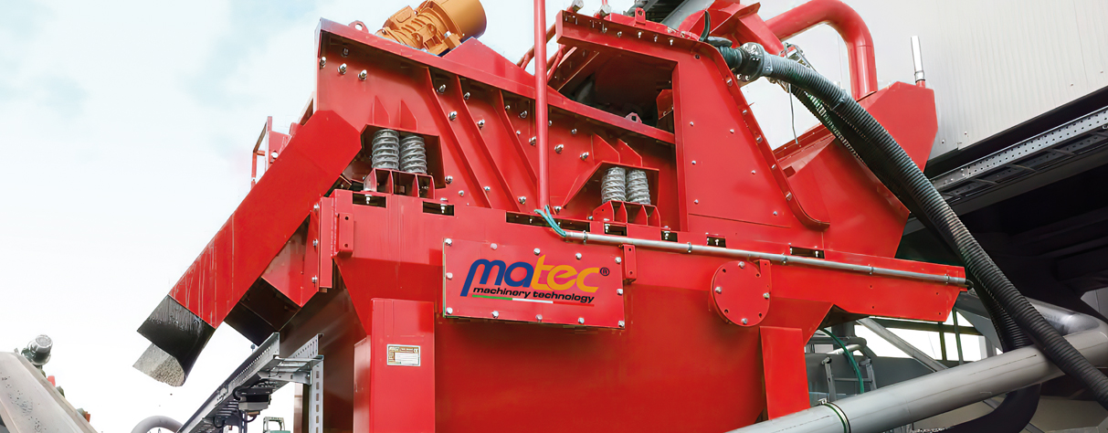 SANDTEC, Sand recovery group with Hydrocyclone - MATEC INDUSTRIES